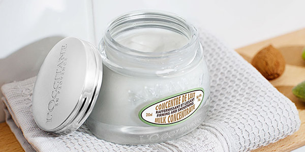 a relaxing spa day at home - Almond Milk Concentrate - l'Occitane
